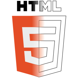 Illustration of deconstructed   HTML5 logo